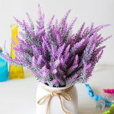 Purple Lavender Bunches Dried Herbs Artificial Plant Simulation Fake Herbal Planter Pots by Arcane Trail
