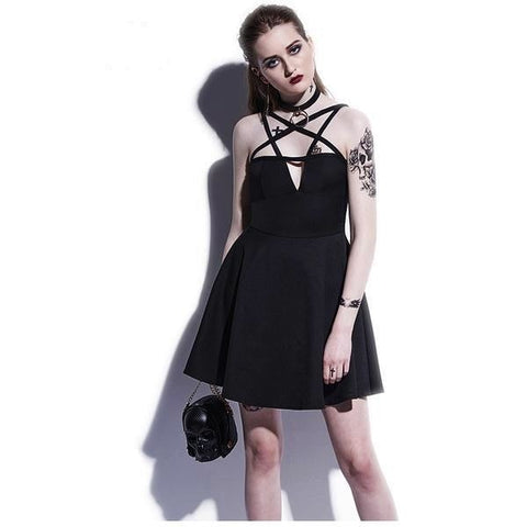 Pentagram Pentacle Harness Dress Witchcraft Wiccan Witch Occult Pagan Goth Fashion by Arcane Trail