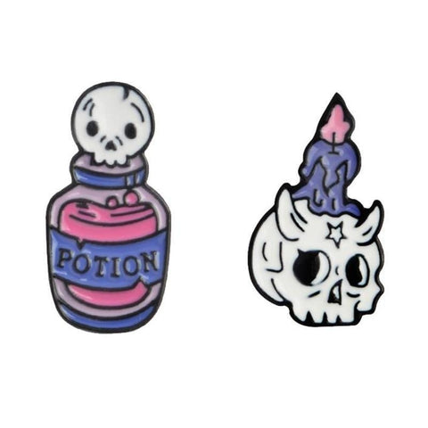Potion & Skull Pins - Pin