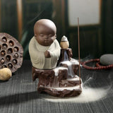 Praying Monk Incense Burner - Gray - Home