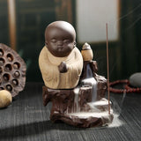 Praying Monk Incense Burner - Khaki - Home