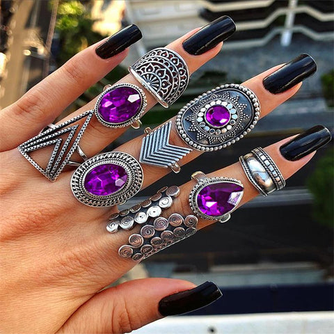 9 Piece Mystic Goddes Ring Set