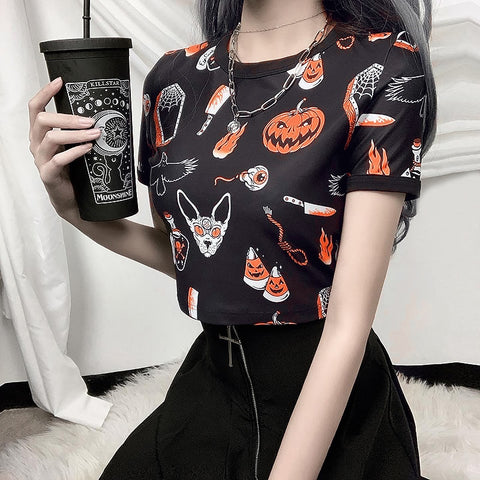 Haunted Vibes Crop Top