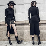 Witchcraft Occult Pagan Black Robe Long Length Gothic Fashion Jacket Trenchcoat by Arcane Trail