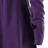 Indigo Purple Cowl Hooded Robe Dress Long Sleeve Witch Coat Jacket Witchcraft Pagan Occult Satanism Ritual Goth Fashion