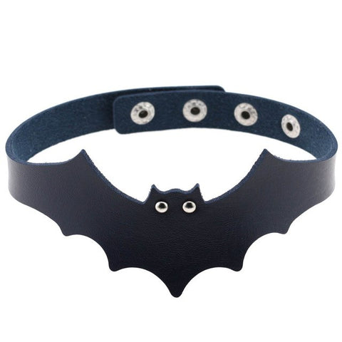 Spooky Bat Wing Choker Necklace Collar Gothic Halloween Occult Fashion