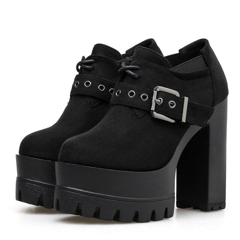 Babydoll Buckle Ankle Booties