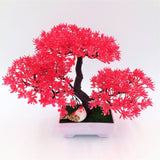 Solid Triple Bonsai - Red - Plants