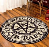 Witchcraft Pentagram Pentacle Area Rug Floor Mat Multiple Sizes Available ~ Pagan Occult Goth Witch Home Decor by Arcane Trail