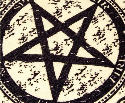 Witchcraft Pentagram Area Rug Floor Mat Witch Decor Arcane Trail