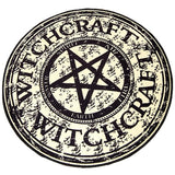 Witchcraft Pentagram Pentacle Floor Mat Area Rug Goth Witch Home Decor Pagan Symbol Pentacle Gothic Halloween by Arcane Trail