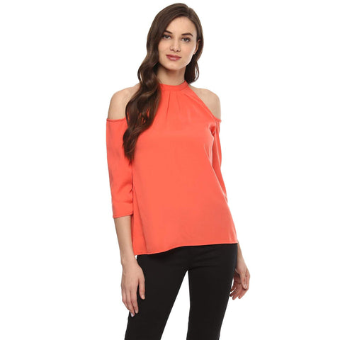 Hapuka Coral Polyester Solid Top