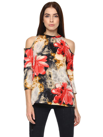 Hapuka Multi Polyester Printed Top