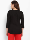 Hapuka Black Rayon Solid Top