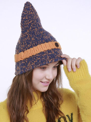 Image of Bohemia Knitting 5 Colors Hat Accessories YELLOW