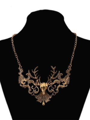 Vintage Elk  Necklaces Accessories GOLDEN