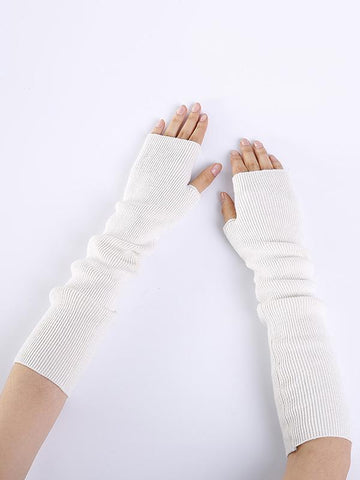 Knitted 7 Colors Sleevelet Accessories WHITE