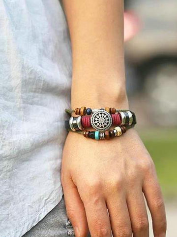 Punk Multi-layered Retro Beaded Bracelet Accessories -