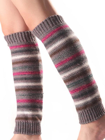 Image of Bohemia 5 Colors Knitting Over Knee-high Stocking BLUE