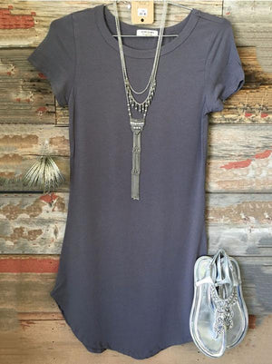 Solid Color Short Sleeves Blouse\u0026shirt Tops GRAY S