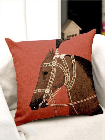 Bohemia Horse Throw Pillow Case Decoration Accessories BROWN HORSE FREE SIZE