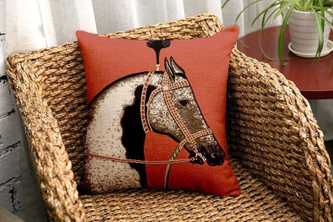 Bohemia Horse Throw Pillow Case Decoration Accessories WHITE HORSE FREE SIZE