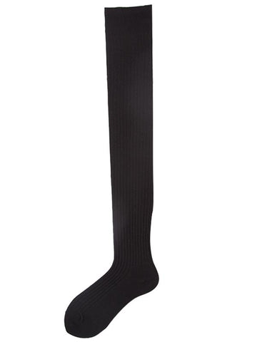 Image of Autumn winter Cotton Knee-high stockings DARK GRAY FREE SIZE