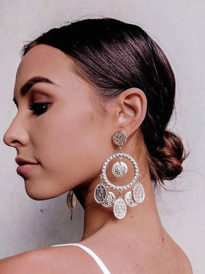 Fashion Bohemia Hollow Earrings Gold