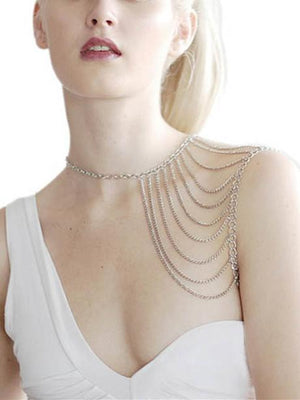 Fashion Bohemia Tassels Body Chain Accessories SLIVER FREE SIZE