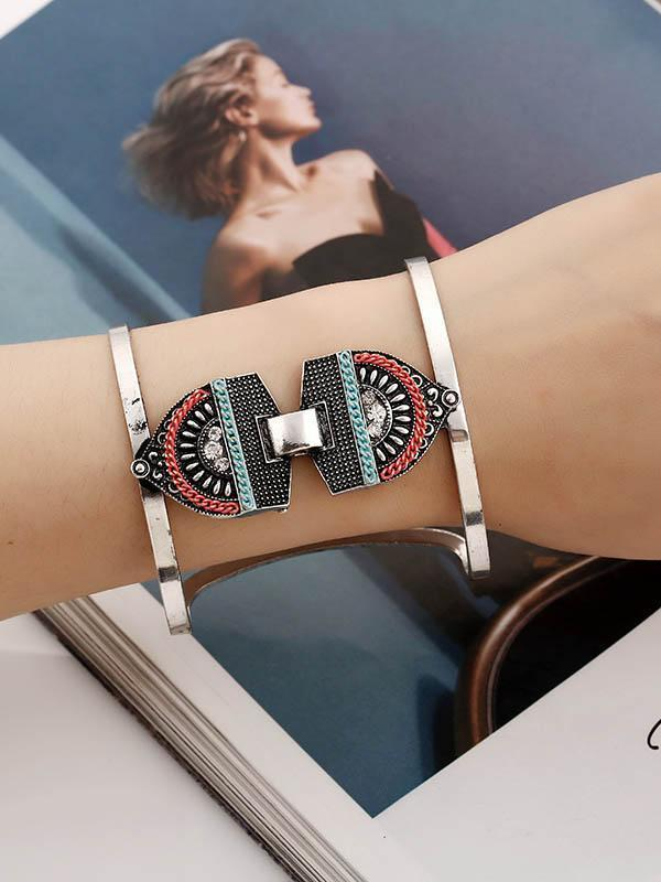 Metallic geometric openings bracelets CHROMATIC