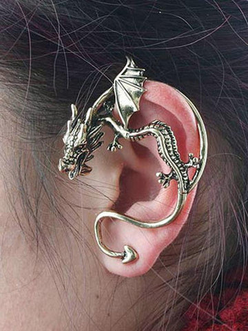 Vintage Kiss of Dragon Alloy Earring Accessories 1 PIECE SLIVER