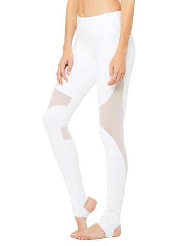 Image of See-through Split-joint Sports Yoga Leggings Bottoms BLACK XL