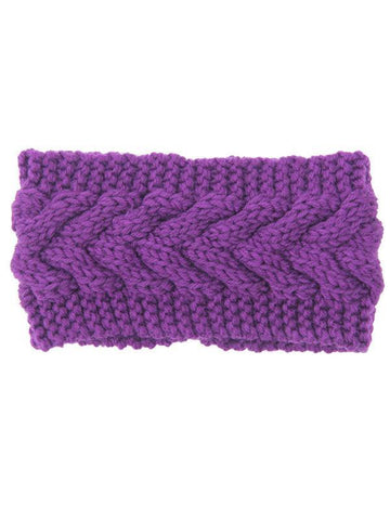 Image of Wollen Twist Hair Band Accessories PURPLE