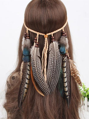 Peacock Feathers Headwear Accessories -