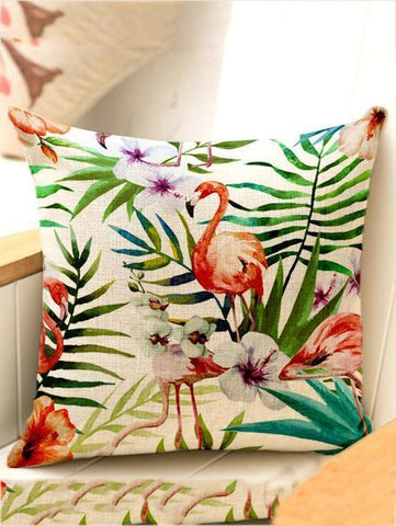 Bohemia Flowers\u0026Birds Throw Pillow Case Decoration Accessories 002 FREE SIZE