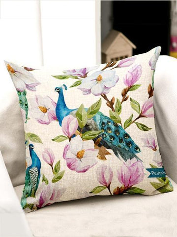 Bohemia Flowers\u0026Birds Throw Pillow Case Decoration Accessories 003 FREE SIZE