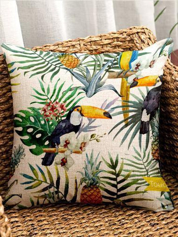 Bohemia Flowers\u0026Birds Throw Pillow Case Decoration Accessories 005 FREE SIZE