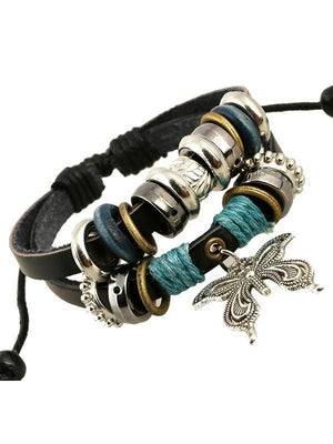 Punk Multi layer Butterfly Bracelet Accessories -
