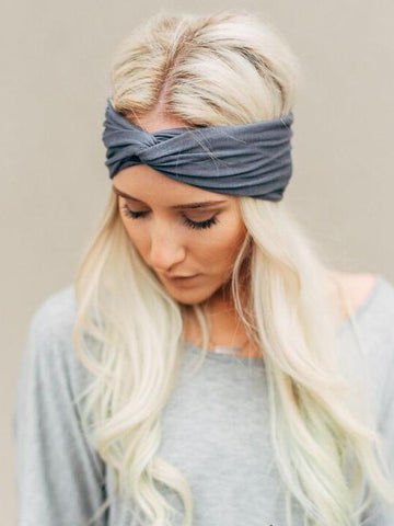 Image of Contrast Color Hair Band Accessories GRAY