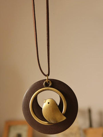 Image of Cute Bird Shape Necklaces Accessories GREEN FREE SIZE
