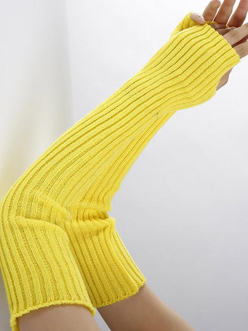 Dooerzi Knitted Solid Color Sleevelet Accessories