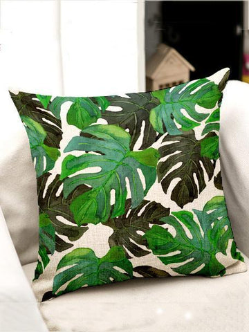 Image of Bohemia Tropical Plant Throw Pillow Case Decoration Accessories 001 FREE SIZE