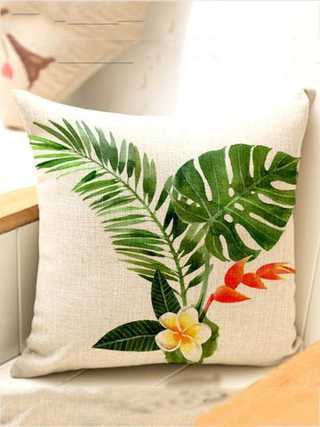 Image of Bohemia Tropical Plant Throw Pillow Case Decoration Accessories 004 FREE SIZE