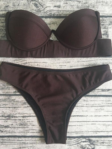 Image of Sexy Two-pieces Bikinis Swimwear BLACK M