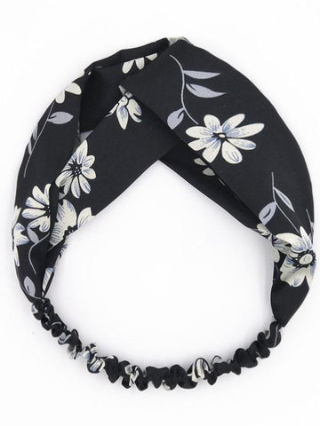 Image of Bohemia Floral Hair Band Accessories BLACK