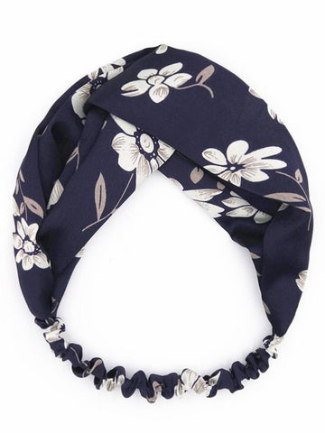 Image of Bohemia Floral Hair Band Accessories BLUE
