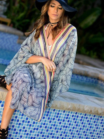 Image of Plus Size Loose Chiffon Beach Cover-ups SAME AS PICTURE S