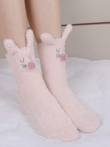 Lovely 2 Colors Socks GRAY