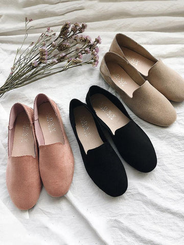 Simple Comfortable Suede Shoes PINK 37