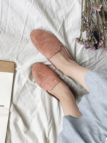 Simple Comfortable Suede Shoes PINK 38